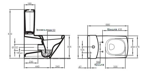 19038W-00 Escale Унитаз с крышкой/сиденьем белый