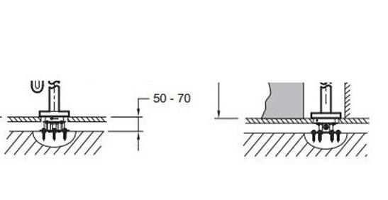 97904D-NF База для напольной установки смесителя AVID E97367