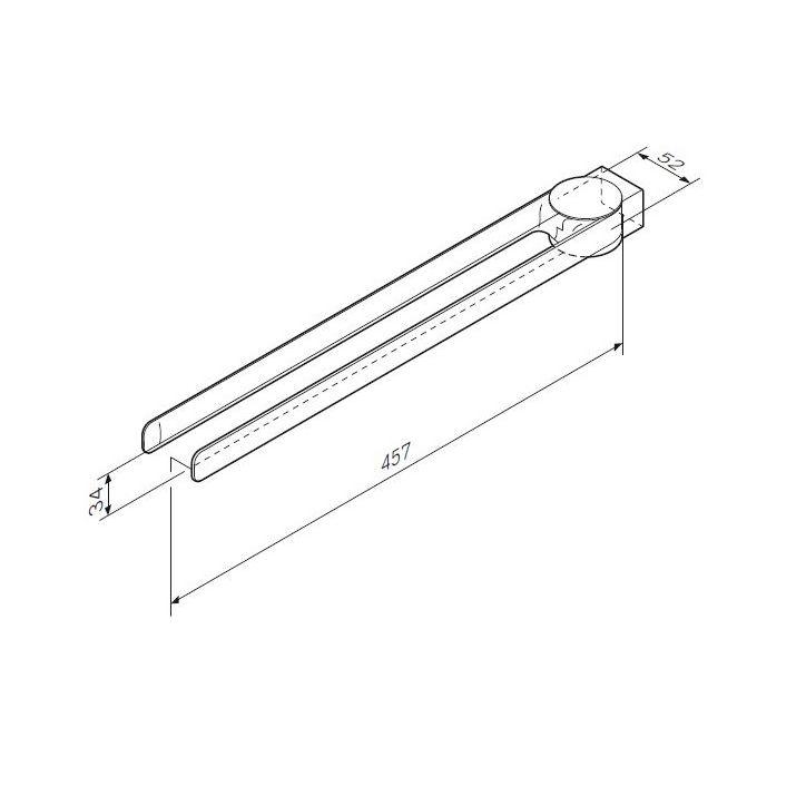 A50A32600 Inspire 2.0, Двойная вешалка-вертушка для полотенец, 40 см, хром, шт