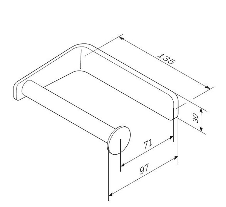 A50A34100 Inspire 2.0, Держатель для туалетной бумаги, хром, шт