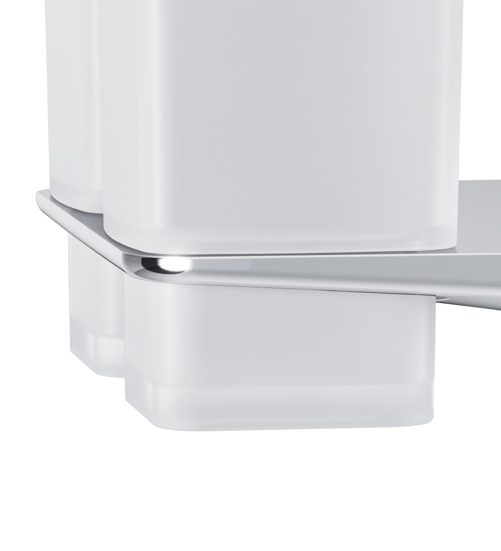 A50A343400 Inspire 2.0, Двойной стеклянный стакан с настенным держателем, хром, шт