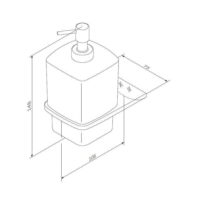 A50A36900 Inspire 2.0, Стеклянный диспенсер для жидкого мыла с настенным держателем, хром, шт