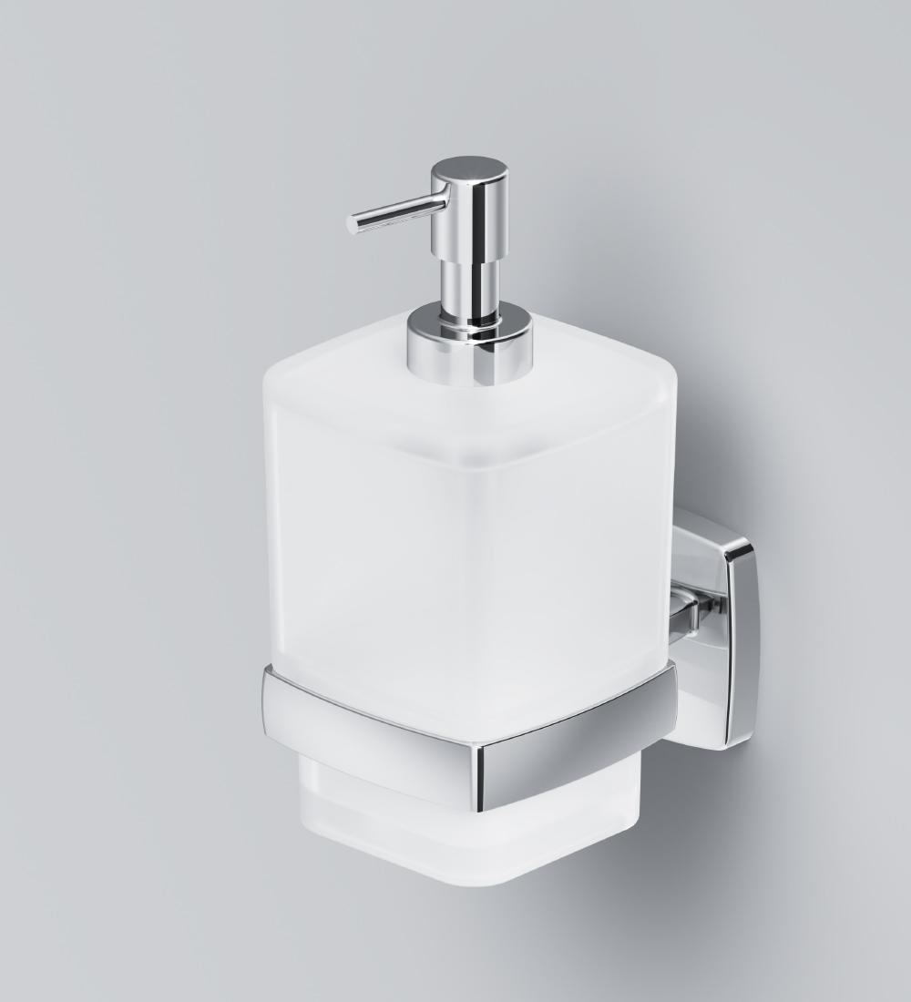 A9036900 Gem, Стеклянный диспенсер для жидкого мыла с настенным держателем