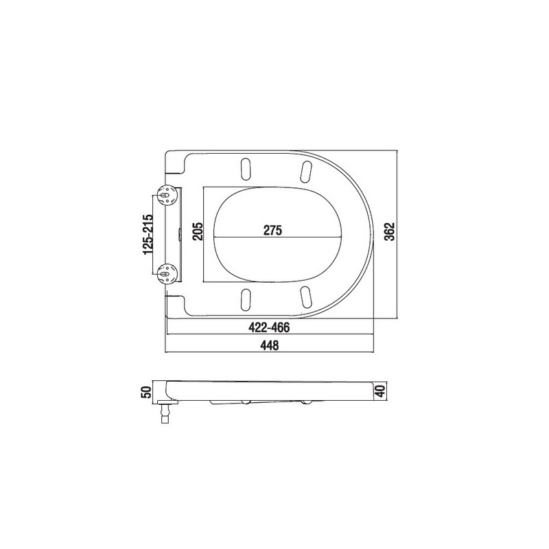 C507852WH Inspire сиденье для унитаза, микролифт