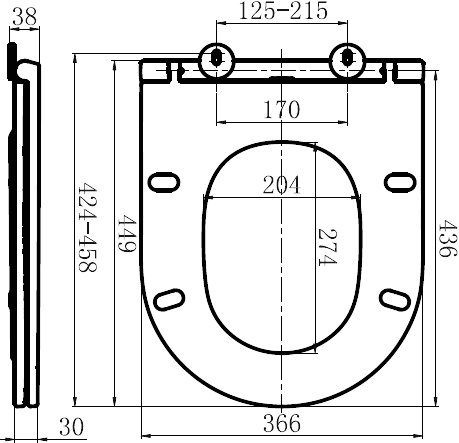 C507853WH Inspire сиденье для подвесного унитаза,микролифт