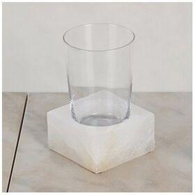 Стакан из стекла с подставкой настольный (белый мрамор) Blanca 2402100 Nicol